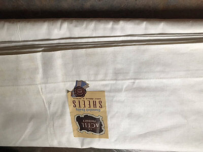 Vintage White Cotton Actil Sheet. Brand New.(Single??)