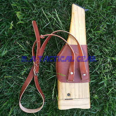 Relics WWII WW2 German Army Mauser Holster Wood Material C96 Cuoic Broomhandle