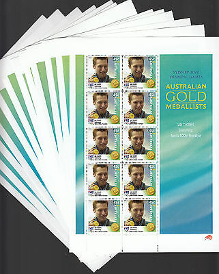 2000 Sydney Olympic Australian Gold Medalists Stamp Set, Red Possum-Victoria Mnh