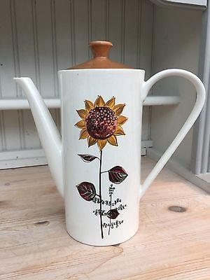Vintage Lord Nelson Pottery Coffee Pot - Sunflower Design