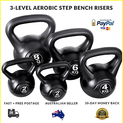 Set of 5 Kettle Bells Fitness Exercise Kit Strength Training X Training Crossfit