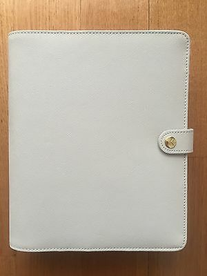 Kikki K Large Textured Grey WELLNESS Leather Planner Diary WITH FREE PENS -NEW