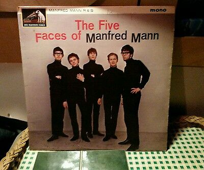 The FIVE FACES Of MANFRED MANN HMV UK 1st PRESS R&B Laminated EX/EX **REDUCED**
