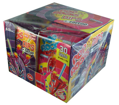 Pop Rocks Dips and Tattoo (30 pieces Display Unit)