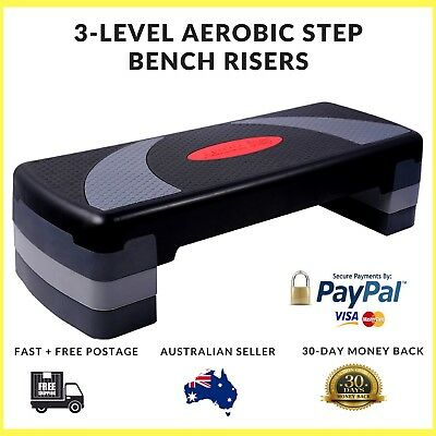 Fitness Exercise Aerobic Step Bench Black Step Riser Sets Crossfit Training Legs
