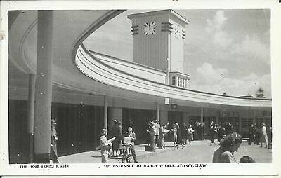 The Entrance To Manly Wharf Sydney Nsw Photo Postcard
