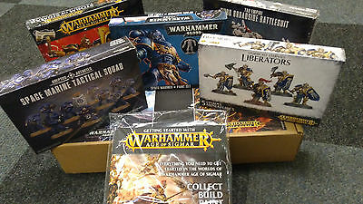 Job Lot 5 Boxes of Warhammer Games/Models With Free Getting Started Book & Model