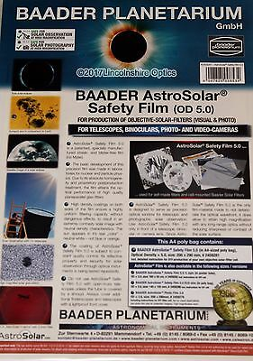 Baader Planetarium A4 solar filter / sheet for visual and photographic use.OD5.0