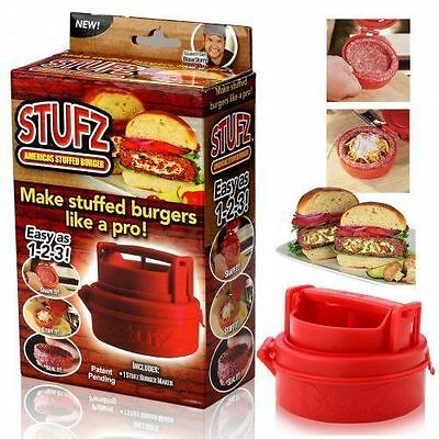 STUFZ-Stuffed-Burger-Press-Hamburger-Grill-BBQ-Patty-Maker-Juicy-As-Seen-On-TV