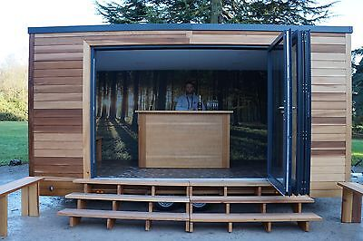 Mobile cedar cladded bar for hire for all occasions.