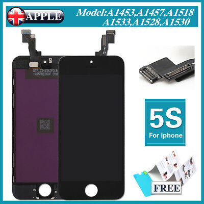 For iPhone 5S Black Lens Touch Screen Display LCD Digitizer Assembly Replacement