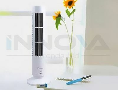 Portable Mini USB Tower Fan Cooling Bladeless Air Conditioner  Home Office White