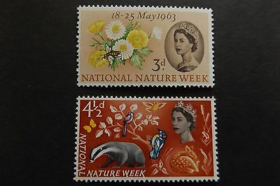 GB MNH STAMP SET 1963 Nature Week (ordinary) SG 637-638 10% OFF FOR ANY 5+