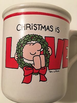 ZIGGY CERAMIC COFFEE MUG CHRISTMAS IS LOVE Vintage Collectibles