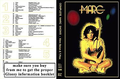 Marc Bolan & T.rex Marc Shows 3 Dvd Set - Donated For Memorial Fund Raising :-)