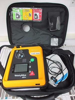 Welch Allyn AED 10 Monitor w/ Carry Case & New Battery