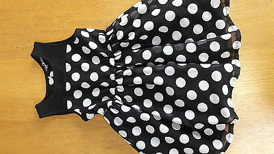 Girls polka dot party dress age 4-5