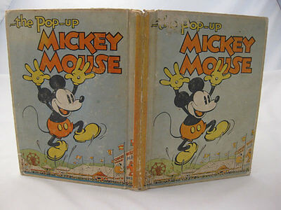 The Pop-Up Mickey Mouse - Walt Disney (1st Edition 1933)