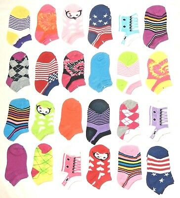 12 Pairs Kids Fashion Design Ankle Socks Assorted