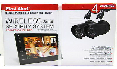 First Alert Digital Wireless Recording System with 7 inch LCD Display, DWS-472