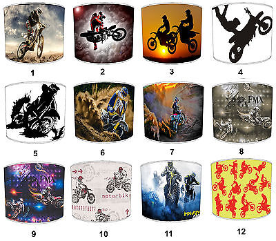 Lampshades Ideal To Match Motocross Duvets Covers & FMX Motocross Wall Hangings