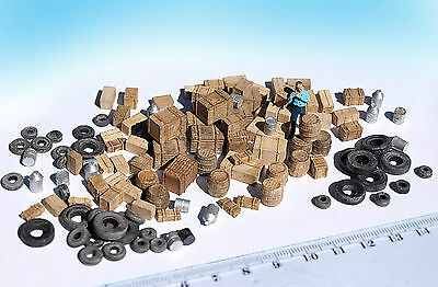 120+ Miniature boxes barrels tyre junk props HO OO N scale diorama scenery model