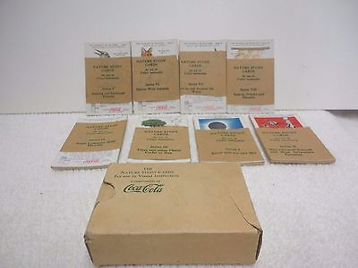 Coca-Cola Nature Study Cards 1932, 8 Vintage card packs in Box