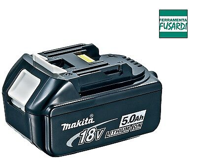 FF: BATTERIA LITIO MAKITA BL 1850 SOLO ORIGINALE NO EQUIVALENTE 18V E 5,0Ah