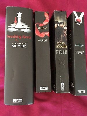 Complete Twilight Book Set Stephanie Meyer 3 Paperback 1 Hardback Good Condition