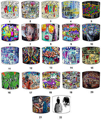 Graffiti Lampshades Ideal To Match Graffiti Wall Decals Stickers Graffiti Quilts