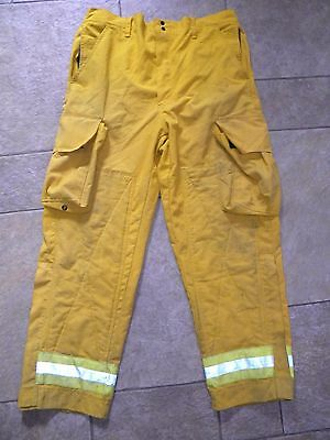 FIREFIGHTER - Yellow Aramid Nomex Forest Wildland Fire PANTS Size M, Pants M/30