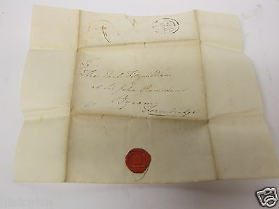 Earl Fitzwilliam of Wentworth letter to 1834