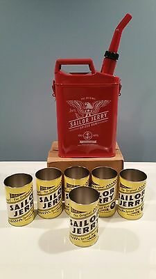 SAILOR JERRY GAS CAN w/ CUPS - BRAND NEW IN FACTORY PLASTIC - ROCKABILLY TATTOOS