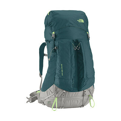 New Womens The North Face Xs S Banchee 65 L Backpack Pack Hiking Blue Green Tnf