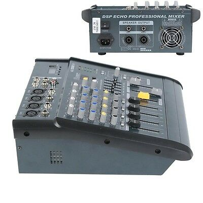 4 Channel Professional Powered Mixer 180W power mixing Amplifier Amp 16DSP