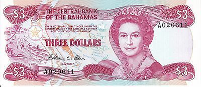 Bahamas, 1974 (ND 1984) 3 Dollars P44a ((Gem Unc))