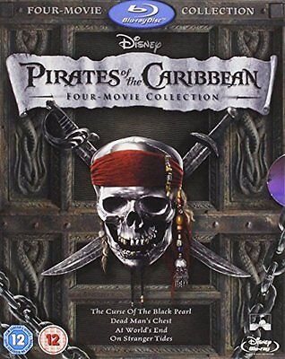Pirates Of The Caribbean: Four-Movie Collection [Blu-Ray] New