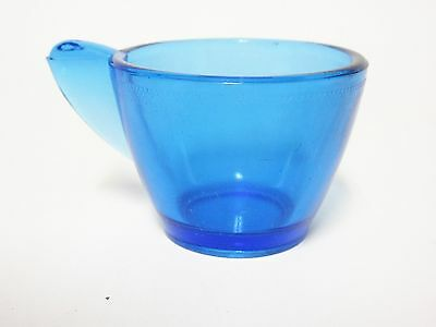 Large Stippled Band Blue Cup For Child's Tea Set / Akro Agate / 4 Available /HTF