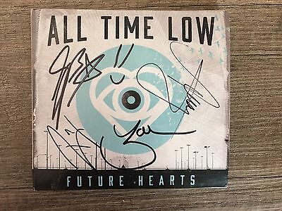 All Time Low Band SIGNED Future Hearts CD Album