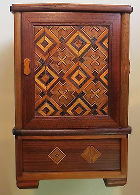 Japanese Marquetry Tobacco Cabinet