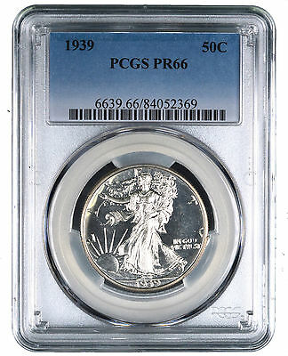 1939 Walking Liberty Silver Half Dollar Proof 50C - PCGS PR66 -
