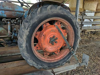 Solid Rear Wheel Web Type - Tyre Will Hold Air - Removed From Fordson Major