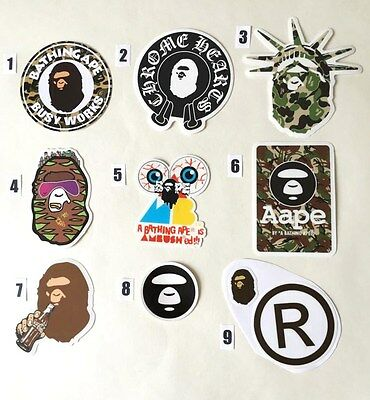 Skateboard Stickers Aape / Bape ** PRICE FOR ONE STICKERS TO CHOOSE **