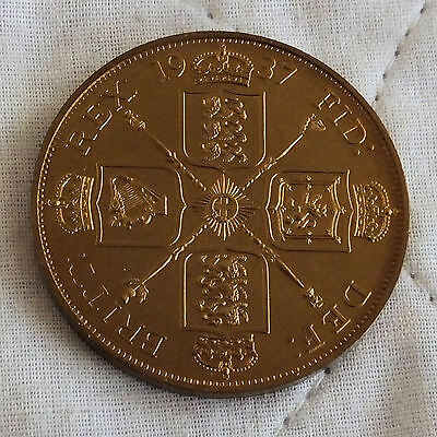 1937 George Vi Bronze Proof Pattern Double Florin