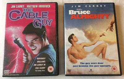 2x Jim Carrey Movies DVD Bundle: The Cable Guy + Bruce Almighty FREE UK DELIVERY