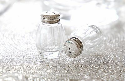 ONE Small Christofle PERLES Sterling Silver 925 Crystal Salt Pepper Shaker