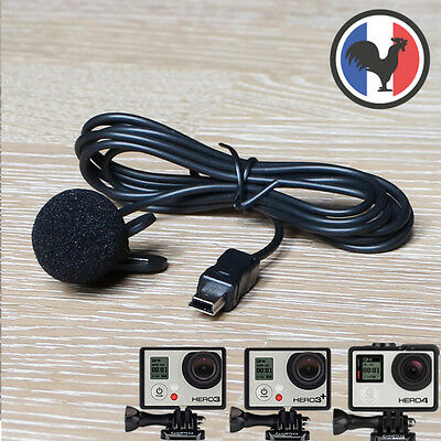 Mic Micro cravate usb Gopro Hero 3 3+ 4 DC527
