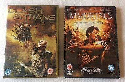 2x Movies DVD Bundle : Clash of the Titans + Immortals  **FREE UK DELIVERY**