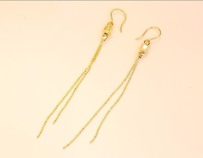 Solid 14K Gold Dropearring #55