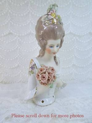 Porcelain Half Doll - Pincushion - Alannah